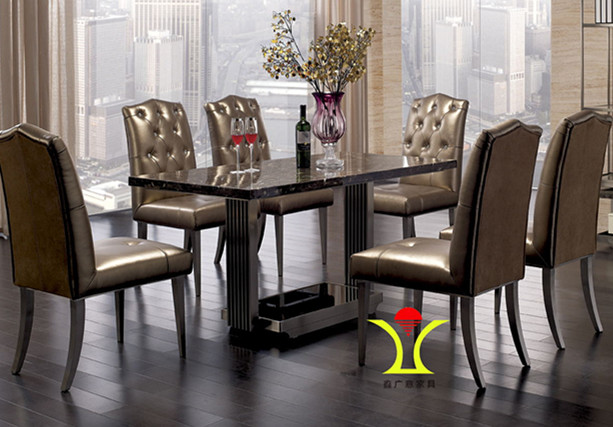 鑫广意不锈钢餐桌椅无论是实际使用还是摆放起来观赏都会为你带来几分清甜的味道