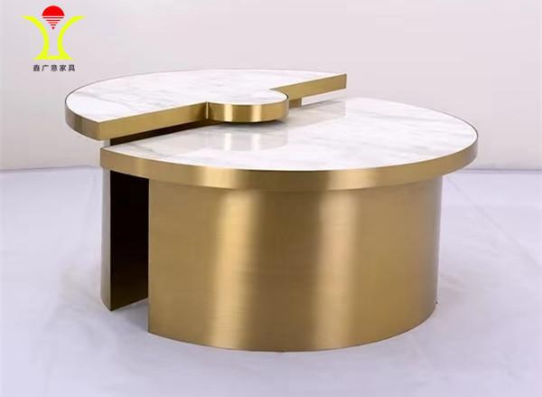 更值得一说的是不锈钢家具线条流畅自然采用艺术结构设计视觉效果更吸引人-鑫广意