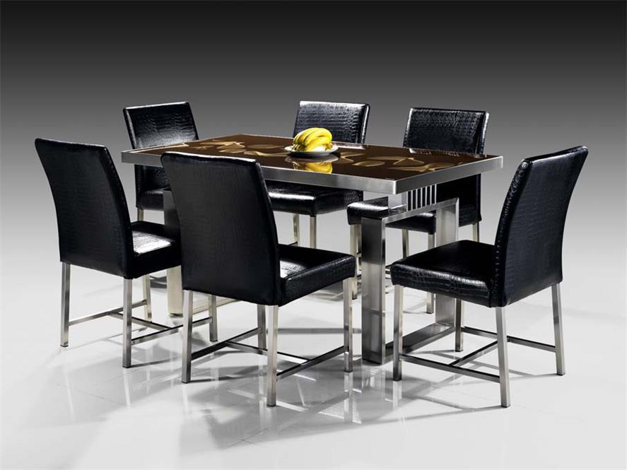 不銹鋼家具桌面與桌腿用流線型設計融為一體這樣避免了桌角的生硬避免磕碰