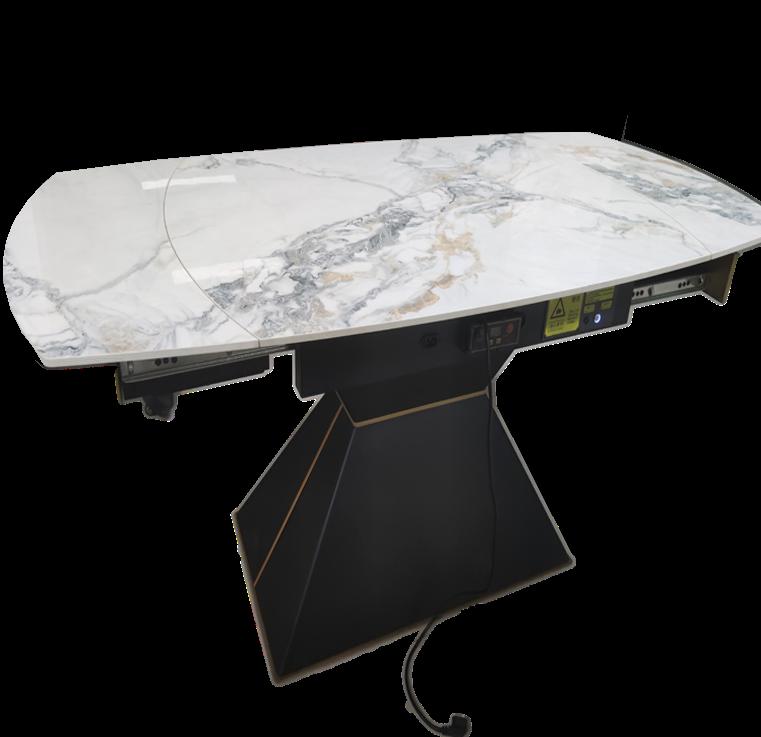 现货岩板餐桌销售风靡家装届结合国际最先进的生产技术加工而成