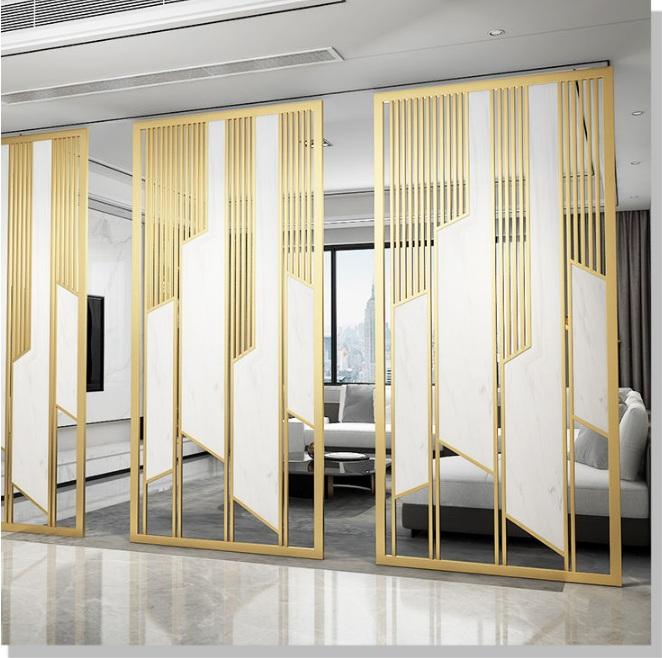 鑫广意不锈钢屏风造型千变万化有独特的质感和触感具有观赏性和收藏性