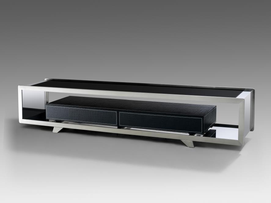 鑫广意不锈钢电视柜样式有很多它们摆放起来很吸引消费者的眼球
