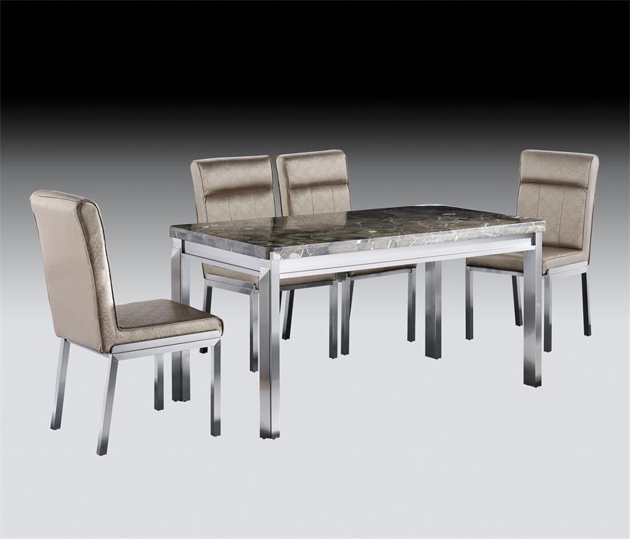 亮金色鑫广意不锈钢餐桌椅是现代感和奢华感兼具的颜色充满时尚精致的现代魅力