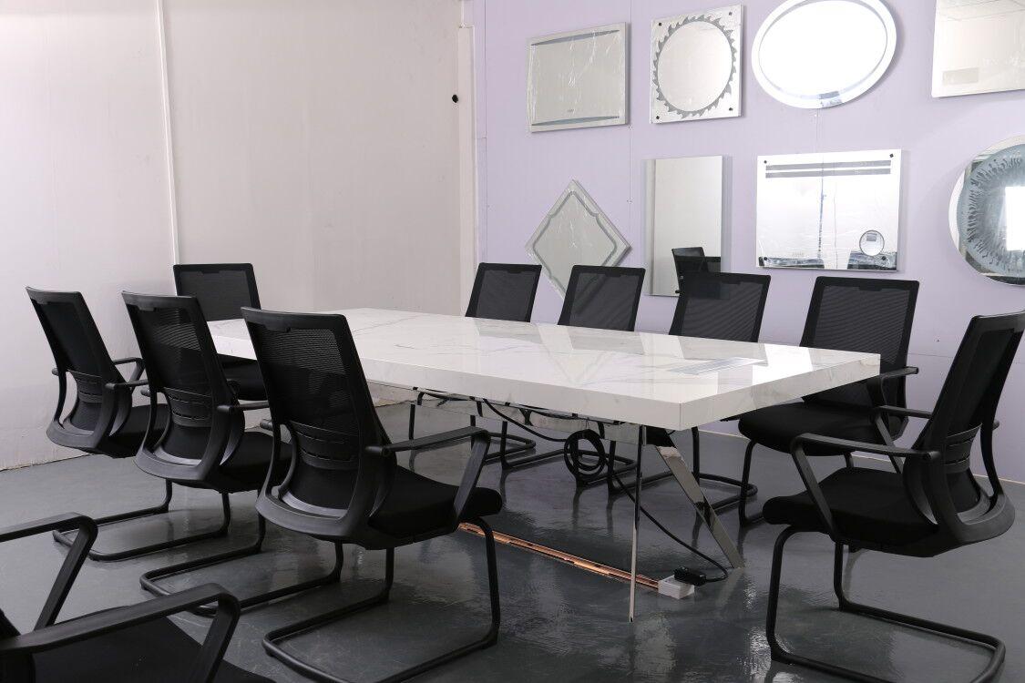 鑫广意不锈钢会议桌多用途方便智能化支持民用和商用