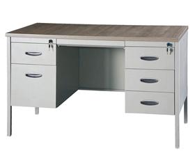 双斗木面办公桌