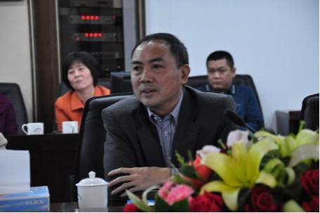 2012年02月23日 国家、省统计局一套表联网直报工作督导组领导莅临金裕集团检查指导工作