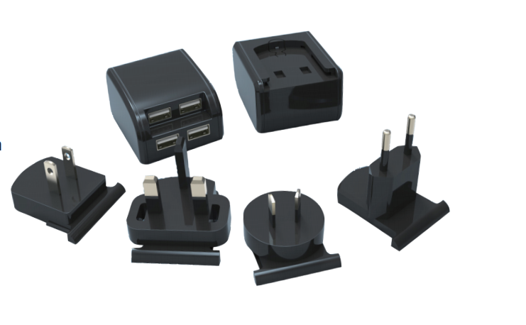 4 Ports universal travel adaptor PS-058