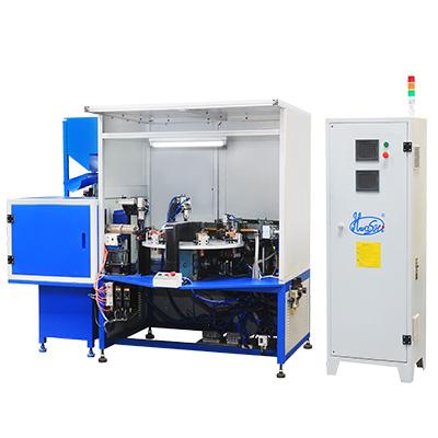汽车发动机碳刷与支架总成多工位自动旋转焊机