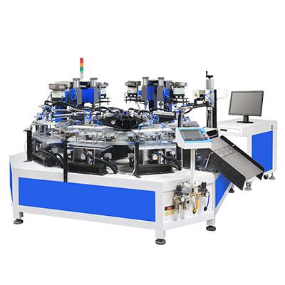 发动机垫片十工位自动进出料铆接激光打标机