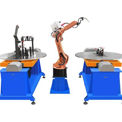 摩托车架焊接机器人工作站