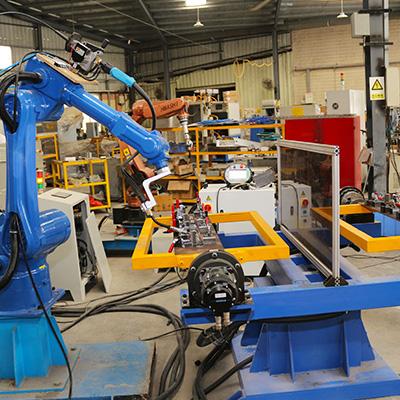 金属管架焊接机器人工作站