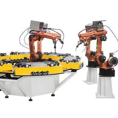 置物架四角焊接机器人工作单元