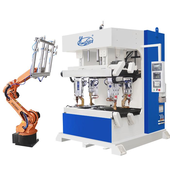搭配焊机工作机器人上下料