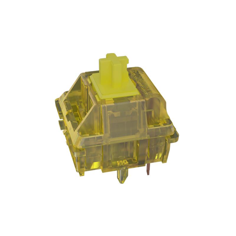 GATERON佳達隆V2版INK定制半透軸體鍍黑彈簧線性60g機械鍵盤開關