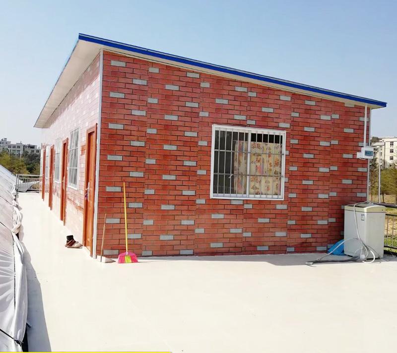砖纹豪华平顶板房