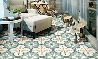 地板瓷砖这样铺,让你的阳台变得更好看