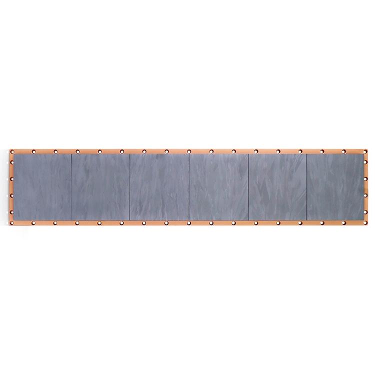 Flat rectangular silicon target
