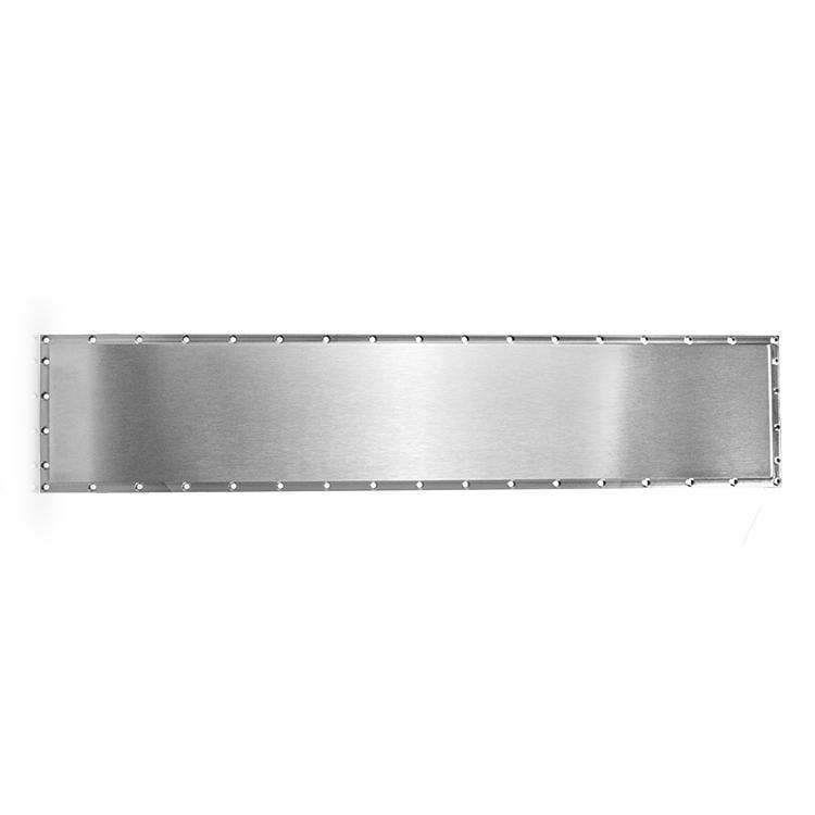 Plane rectangular titanium target