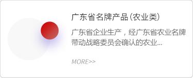 广东省名牌产品(农业类)