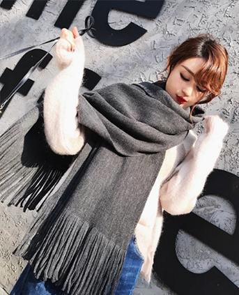 韩版百搭针织毛线围脖