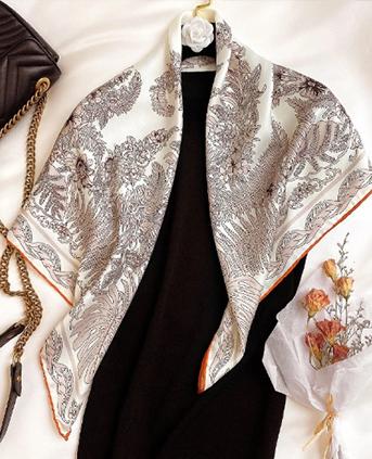 时尚披肩 森系文艺装饰领巾-米色