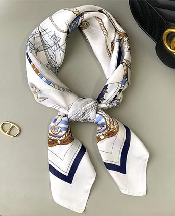 时尚航海 印花装饰方巾