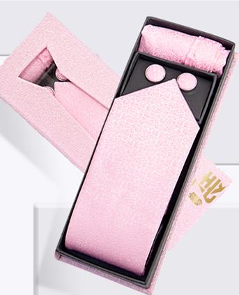 南韩丝花色领带+口袋巾组合