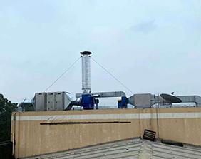 深圳龙侨华公司废气处理工程完美竣工并顺利通过检测